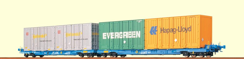 brawa-2300-megafret-niederfluereinheit-2x4-achsige-container-tragwagen