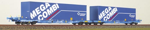 brawa-2301-megafret-niederfluereinheit-2x4-achsige-container-tragwagen