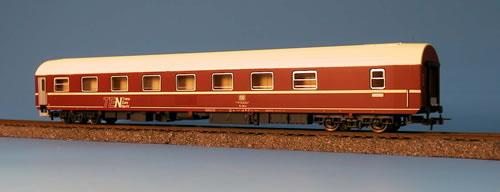 Heris 11013 - T2s Schlafwagen, DB, rot, Dach beige, TEN, Ep.4