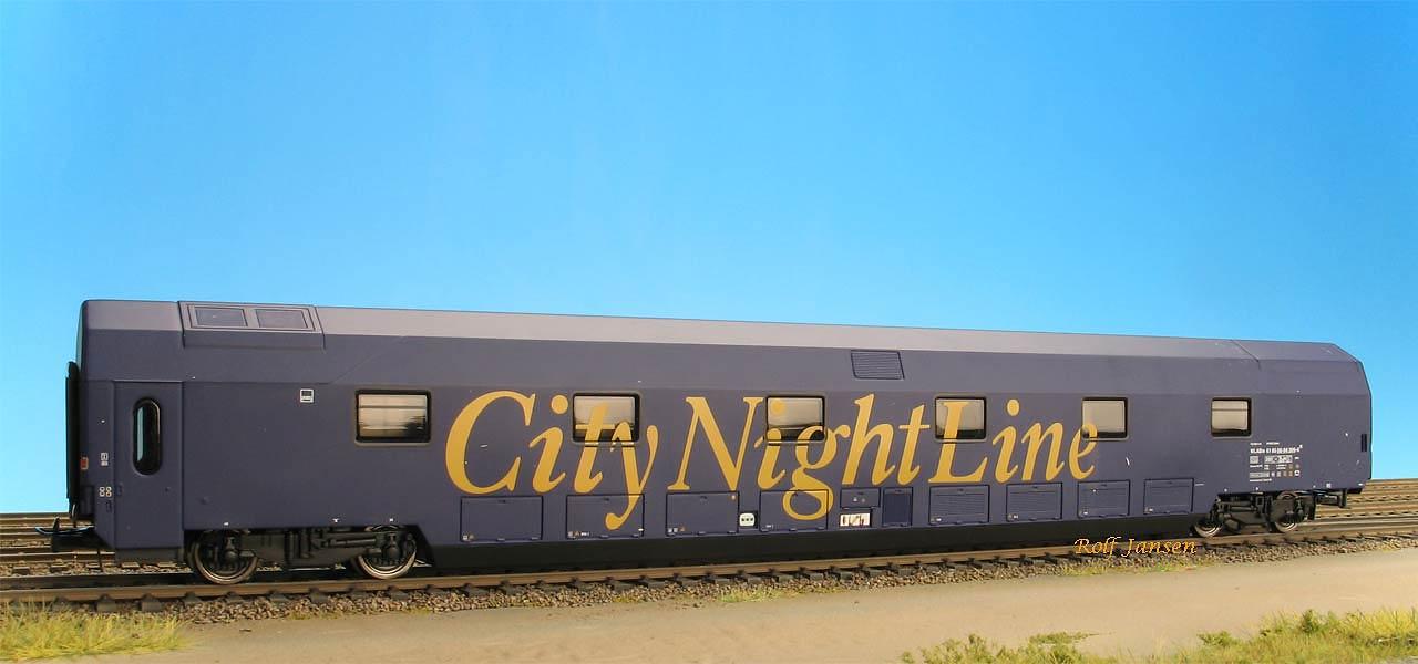 Heris 11051.1 - Doppelstockschlafwagen WLABm, blau, CityNightLine.1