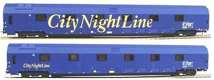 Heris 11054 - CityNight Line, Doppelstockschlafwagen WLABm und WLBm blau.2