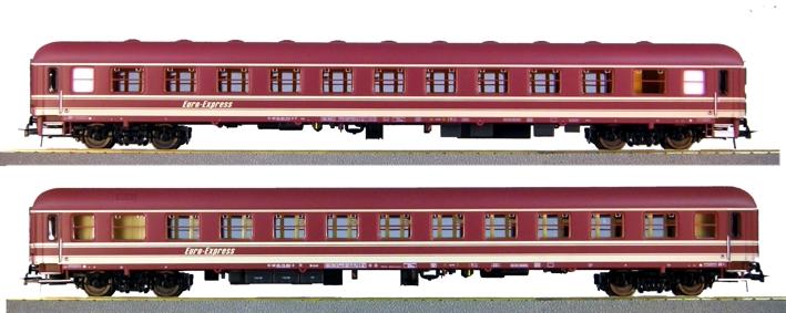 Heris 11312 - Set Nr. 1 EuroExpress Zuge, Abteilwagen Bcmoh und Am.1