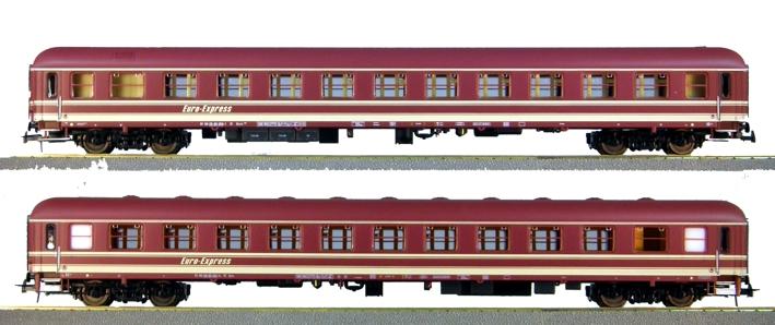Heris 11314 - Set Nr. 2 EuroExpress Zuge, Abteilwagen Bocm und Bcm.1