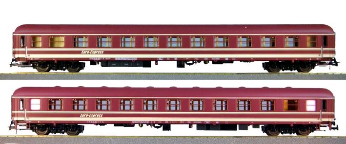 Heris 11315 - Set Nr. 3 EuroExpress Zuge, Abteilwagen Bocm und Bcm.1