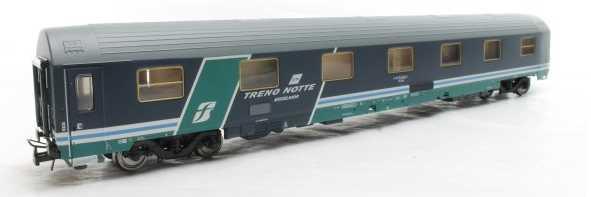 Heris - ACME 16015 - T2s Schlafwagen FS, UMBAU, geaendertes Fensterband, TRENO NOTTE EXCELSIOR, blau, Dach grau