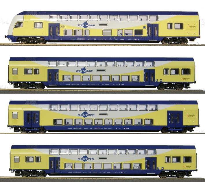 Hobby Trade 63030 - Doppelstockzug 'metronom', Steuerwagen 1.-2.-Klasse, 3x 2. Klasse.1