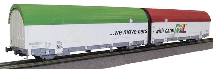 klein-t3301-autotransportwagen-geschlossen-2-teilig-2x2-achs-car-rail-logistics-gmbh-daecher-rot-und-gruen-1