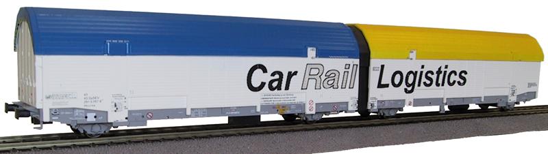 klein-t3311-autotransportwagen-geschlossen-2-teilig-2x2-achs-car-rail-logistics-gmbh-daecher-gelb-und-blau-2