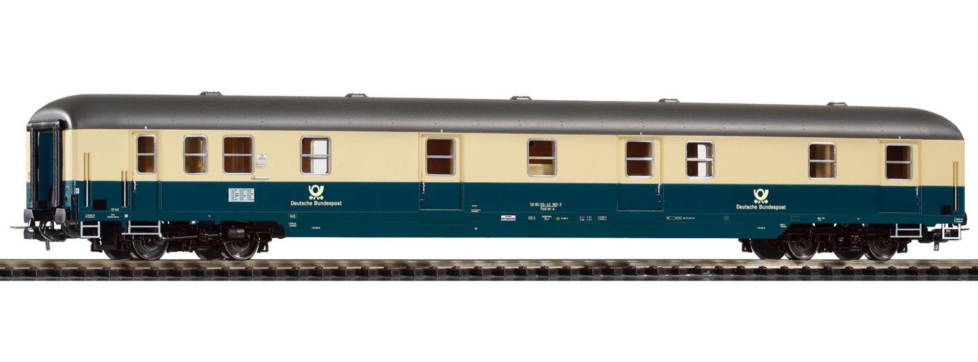 Piko 53387 - Post mr-a-55 der Baureihe 55, ozeanblau-beige, Deutsche Bundespost, neues Horn, Ep. IV.1