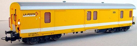 RailTop 31711 - Postwagen Z4 501-540 gelb der Schweizerischen Post Ep V.1