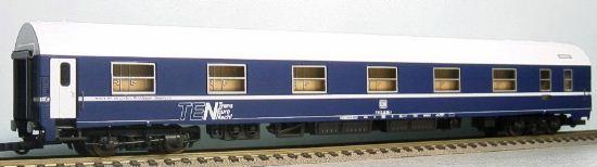 Rivarossi 3539 - MU WLAB, Schlafwagen TEN, blau, weisses Steil-Hochdach, Federpuffer
