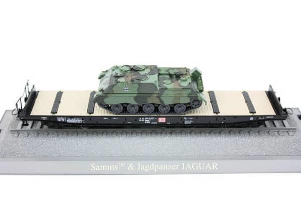 Roco 47660 - 710Samms, 6-achs Schwertransporter, 6-achs, Ladung 'Jaguar 2', braun, DBAG