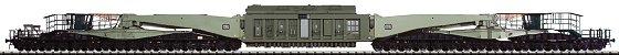 Trix 23994 - Tragschnabelwagen Uai839, 32-achs., mit Trafo, DB, Ep.4