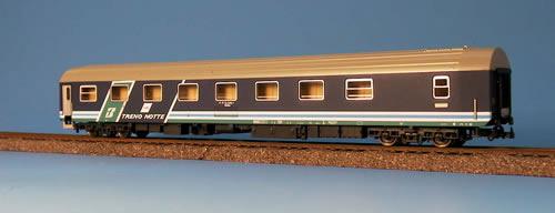 Heris 16004 - T2s Schlafwagen FS, Ausführung TRENO NOTTE, gruener Schraegstreifen, Ep.5.1