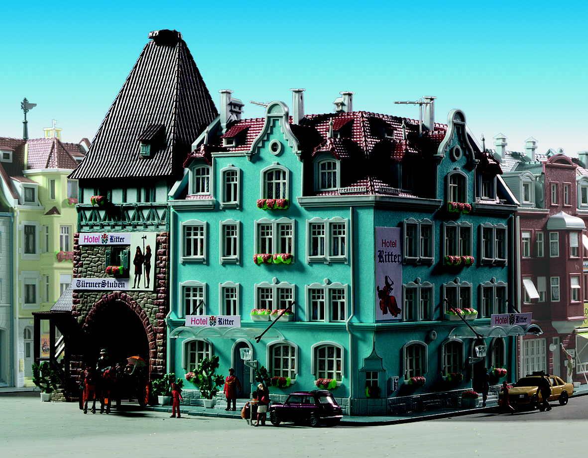 Kibri 8369 - Hotel Ritter mit Stadttor