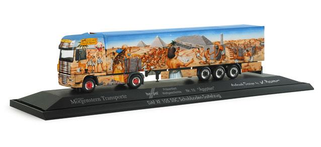 Herpa 121101 - DAF XF 105 SSC Schubboden-Sattelzug 'Herpa präsentiert 10 - Ägypten'.1