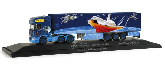 Herpa 121 187 - Scania R TL Kühlkoffer-Sattelzug 'Herpa präsentiert Raumfahrt', PC .1