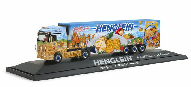 Herpa 120821 - MB Actros LH Kühlkoffer-Sattelzug 'Henglein Wichtel-Truck III', PC