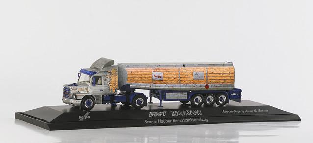 Herpa 120357 - Scania Hauber Tanksattelzug 'Best Warrier'