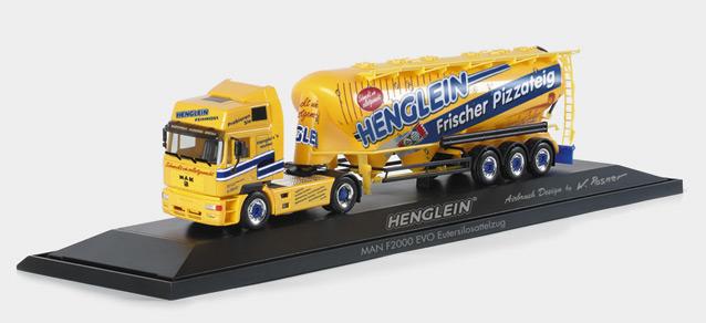 Herpa 120500 - MAN F2000 Evo Eutersilosattelzug 'Henglein', PC