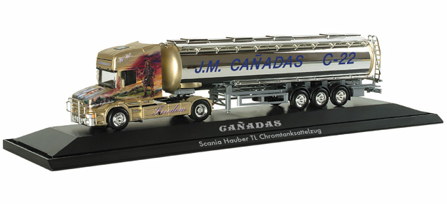 Herpa 121 002 - Scania Hauber Topline Chromtank-Sattelzug 'Canadas Freedom' (E).1