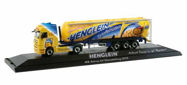 Herpa 121323 - Mercedes-Benz Actros LH 08 Silo-Sattelzug 'Henglein Feinkost'