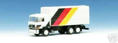Herpa 859 014 - MAN F90, Solo-LKW, Flaggendesign, 'Deutschland', SOS SEIBERT 1988