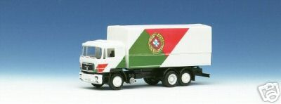 Herpa 859 054 - MAN F90, Solo-LKW, Flaggendesign, 'Portugal', SOS SEIBERT 1988