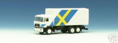 Herpa 859 083 - MAN F90, Solo-LKW, Flaggendesign, 'Schweden', SOS SEIBERT 1988