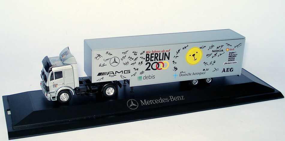 Herpa - Mercedes-Benz SK Jumbokoffersattelzug Renntransporter 'AMG Berlin 2000'