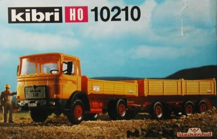 Kibri 10210 - MAN 19,321 FK, Kieshaengerzug