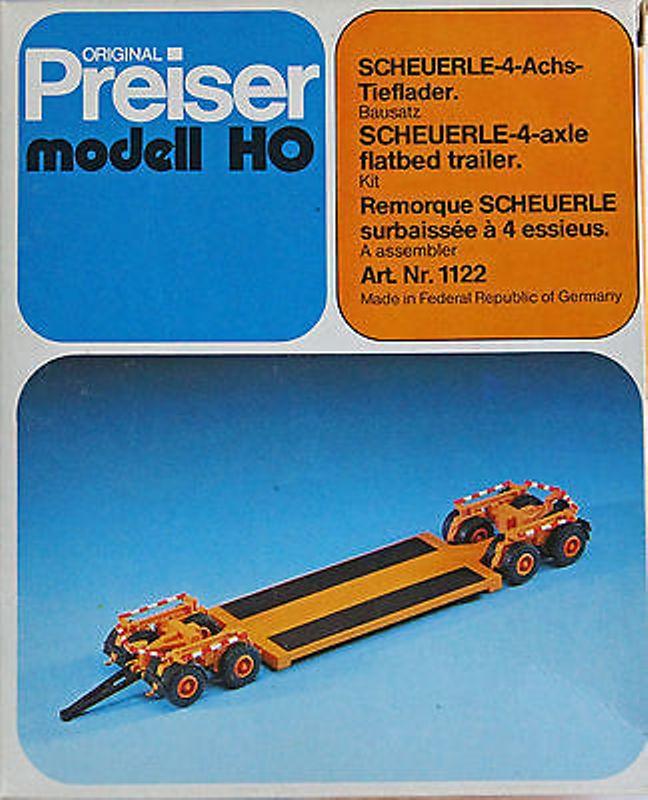 Preiser 1122 - Scheuerle 4-Achs-Tieflader