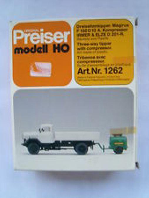 Preiser 1262 - Dreiseitenkipper Magirus F150D 10 A. Kompressor Irmer&Elze D 201-R