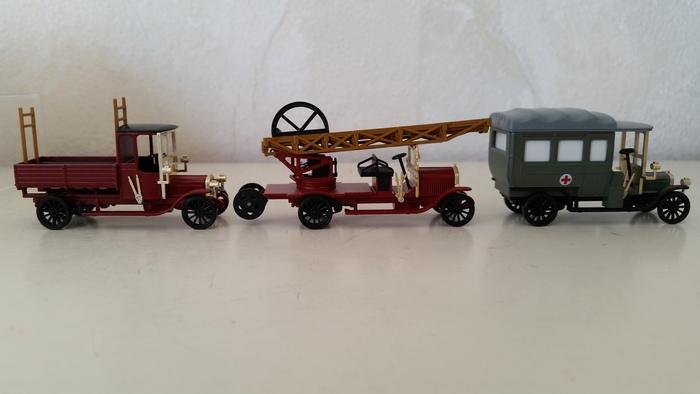 Märklin 1890 - 3 Feuerwehrautos um 1915, Sonderserie 1993