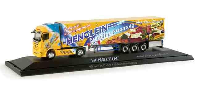 Herpa 121200 - Mercedes Benz Actros LH Kühlkoffer-Sattelzug 'Henglein Pizzateig'.1