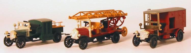 Märklin 1893 - 3 Feuerwehrautos um 1915, Sonderserie 1991
