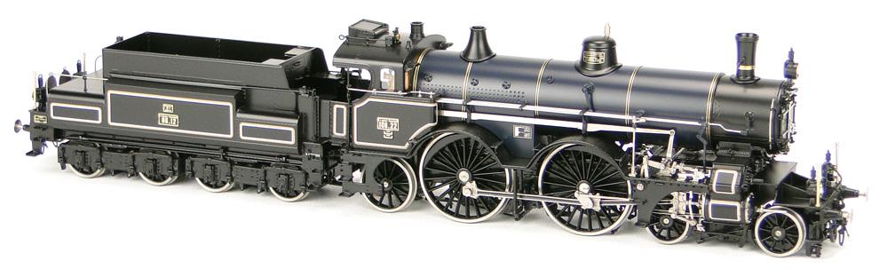 Micro-Metakit-Rauchenecker 00 710HL- SOS 2001 Nr. 28, Kk Oester. Staatsbahn, 2 B 1 mit 4-achs Langlauftender 86.12, Bauzustand 1906, schwarzdunkelblau.01