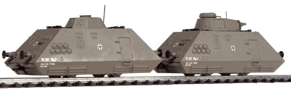 Liliput 136 501 - Panzerspähzug Set 2, Pionier- und Geschuetzwagen, DR, Ep. II.1