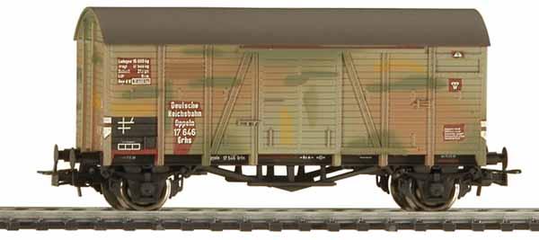 Liliput 225393 - Gedeckter Güterwagen, DR, Ep. II Oppeln mit Tarnanstrich.1