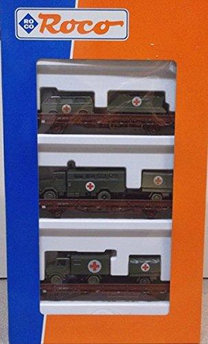 Roco 44024 - BW Sanitätszug, 3 RW mit Sani-Ladung