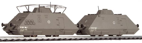 Liliput 136 500 - Panzerspähzug Set 1, Kommando- und Mannschaftswagen, DR, Ep. II