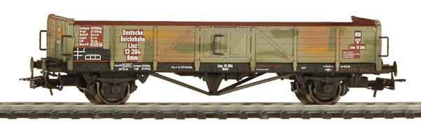 Liliput 221 693 - Offener Güterwagen, DR, Ep. II Linz mit Tarnanstrich.1