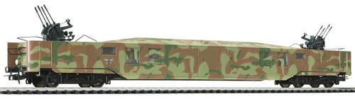 Liliput 336 615 - Flakwagen SdPI 4i, DR, Ep. II, mit Tarnanstrich
