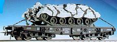 Roco 47397 - Tiefladewagen 4-achsig, BW Panzer 'Jaguar 2' in Winter-Tarnfarbe + TOW.2