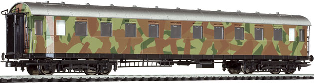 Liliput 384 399 - Wagen für Truppentransport, 3.Klasse; DR, Epoche II; getarnt