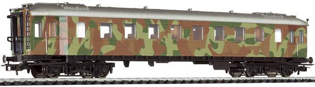 Liliput 328 699 - Wagen für Truppentransport, 3.Klasse; DR, Epoche II; getarnt