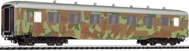 Liliput 383 299 - Wagen für Offizierstransport, 1.-2.Klasse; DR, Epoche II; getarnt